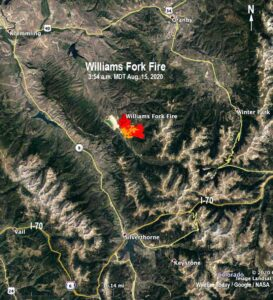 Williams Fork Fire August 18, 2020